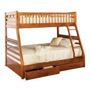 Venetian Worldwide Williams Twin-over-Full Bunk Bed, Oak at Kmart.com