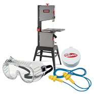 Craftsman 14'' Band Saw and Safety Gear Bundle        ...