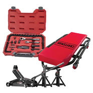 Creeper, Floor Jack and Mechanics Tool Set Bundle    ...