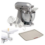 KitchenAid Black and Silver 5Qt. Artisan Series Bundl...