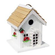 Decorative Wood Bird House w/ Red Trim at Kmart.com