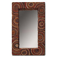 Leick Renewable Sea Grass 30 x 20 Rectangular Mirror with Spectral Swirl Pattern at Kmart.com