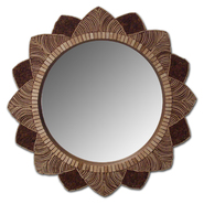 Leick Renewable, Round 35 inch Coconut Lotus Flower Mirror at Kmart.com