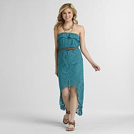 Trixxi Junior's High-Low Dress - Crochet at Sears.com
