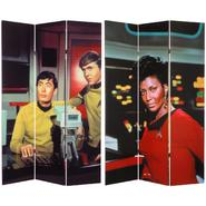 Oriental Furniture 6 ft. Tall Double Sided Star Trek Sulu, Chekov, and Uhura Canvas Room Divider at Kmart.com