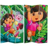Oriental Furniture 6 ft. Tall Double Sided Dora and Friends Canvas Room Divider at Kmart.com