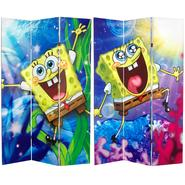 Oriental Furniture 6 ft. Tall Double Sided SpongeBob SquarePants Canvas Room Divider at Kmart.com