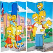 Oriental Furniture 7 ft. Tall Double Sided Simpsons Kids Canvas Room Divider at Kmart.com