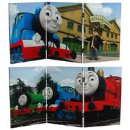 Oriental Furniture 2 ft. Tall Double Sided Thomas Sodor Steamworks Canvas Room Divider at Kmart.com
