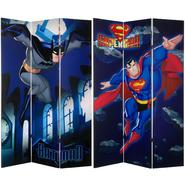 Oriental Furniture 6 ft. Tall Double Sided Superman and Batman Canvas Room Divider at Kmart.com
