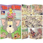 Oriental Furniture 6 ft. Tall Double Sided Tom and Jerry Canvas Room Divider at Kmart.com