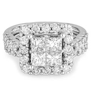 Tradition Diamond 3 cttw Princess Diamond Bridal Ring 10k White Gold at Sears.com