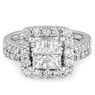 Tradition Diamond 2 cttw Princess Diamond Bridal Ring 10k White Gold at Sears.com