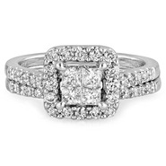 Tradition Diamond 1 cttw Princess Diamond Bridal Ring 10k White Gold at Sears.com