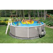 "Swim Time Belize 27 ft Round 48"" Deep 6-in Top Rail Swimming Pool Package at Sears.com"