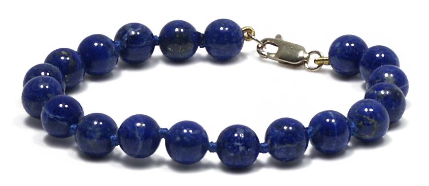 Lita 14K Lapis Knotted Bracelet, Blue