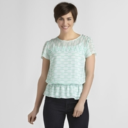 Jaclyn Smith Women's Chiffon Blouse - Geometric at Kmart.com