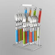 Cambridge 16-Piece Silverware Set & Rack at Kmart.com