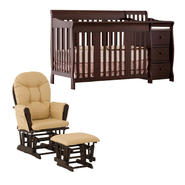 Stork Craft Crib and Glider Espresso Furniture Bundle at Kmart.com