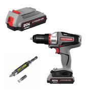 Craftsman Bolt-On 20 Volt MAX Drill, Battery and Spec...