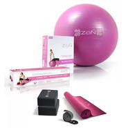 ZoN Pink Yoga Kit with Exercise Ball and Resistance Tubes Get Fit Bundle at Kmart.com