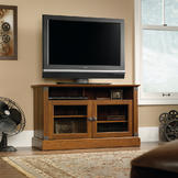 Sauder Carson Forge Panel TV Stand at mygofer.com