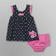 Little Wonders Infant Girl's Polka Dot Dress - Kitten at Sears.com