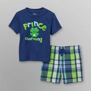Little Wonders Infant Boy's Graphic T-Shirt & Plaid Shorts - Prince at Kmart.com