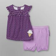 Little Wonders Infant Girl's Tunic & Shorts - Ice Cream Cone at Sears.com