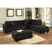 Venetian Worldwide Dallin Sectional Sofa-Black at Sears.com