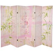 Oriental Furniture 5 1/4 ft. Pink Harmony Canvas Room Divider at Kmart.com