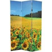 Oriental Furniture 6 ft. Tall Floral Double Sided Room Divider - 3 Panel at Kmart.com