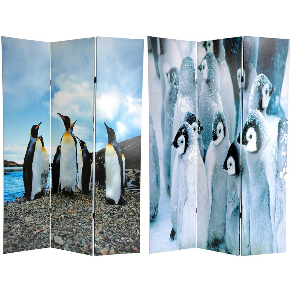 Oriental Furniture 6 ft. Tall Penguin Double Sided Room Divider - 3 Panel PartNumber: 00839249000P KsnValue: 5408677 MfgPartNumber: CV-PENG