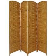 Oriental Furniture 7 ft. Tall Diamond Weave Room Divider - 4 Panel - Light Beige at Kmart.com