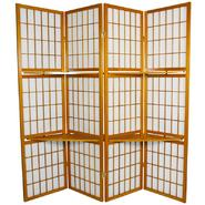 Oriental Furniture 5 1/2 ft. Tall Window Pane with Shelf Room Divider in Honey at Kmart.com