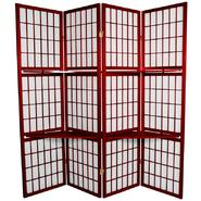 Oriental Furniture 5 1/2 ft. Tall Window Pane with Shelf Room Divider in Rosewood at Kmart.com