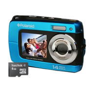 Polaroid iF045 Waterproof Digital Camera with Memory Card & Accessory Bundle at Sears.com