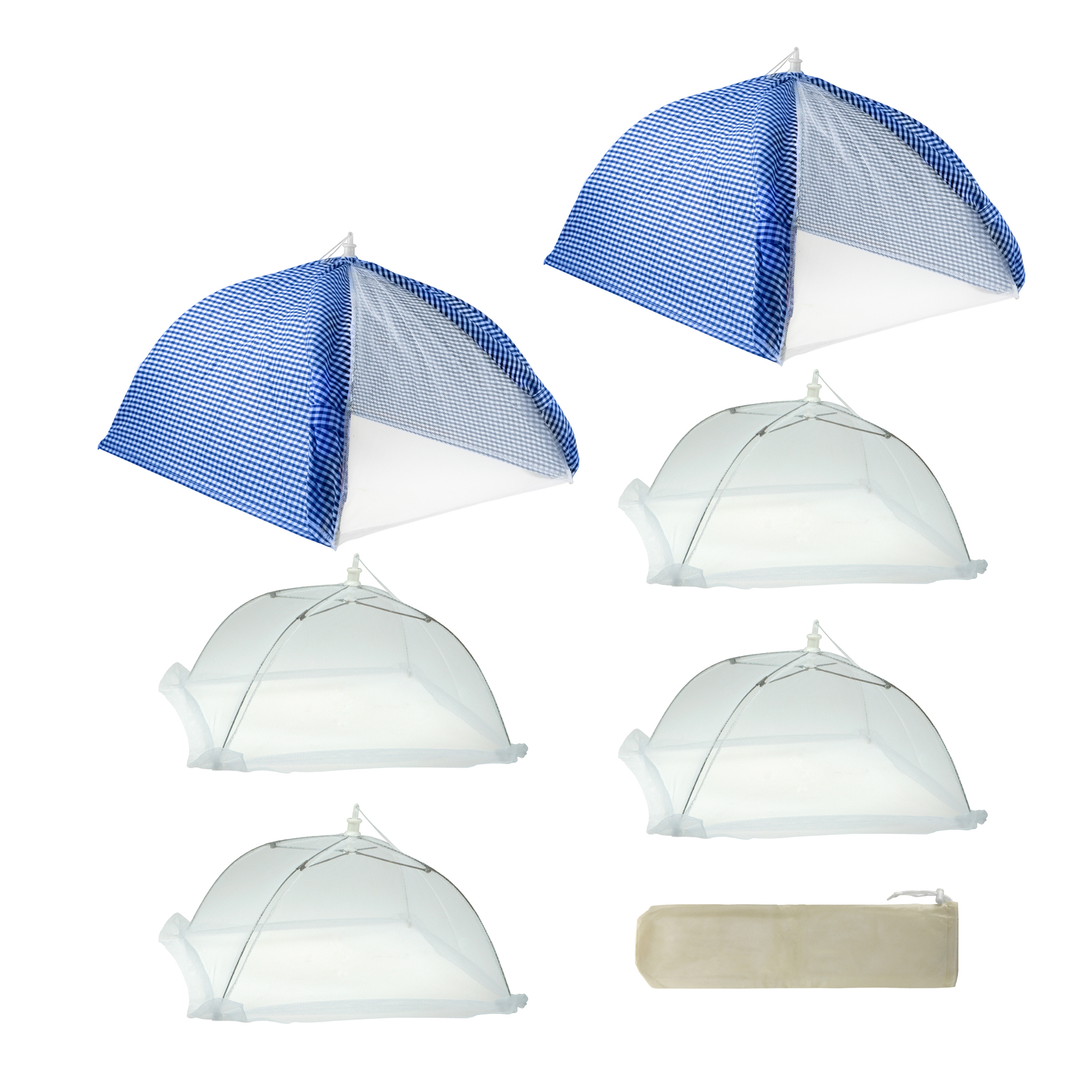Cabana Style 7-Piece Blue Food Tent Kit