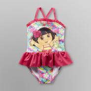 Nickelodeon Dora the Explorer Infant & Toddler Girl's Swimsuit - Floral at Kmart.com