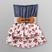 Almost Famous Junior's Strapless Dress - Floral at Sears.com
