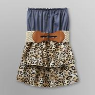Almost Famous Junior's Strapless Dress - Leopard Print at Sears.com