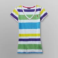 US Polo Assn. Junior's V-Neck T-Shirt - Striped at Sears.com
