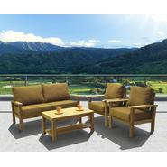 Amazonia Del Prado Teak 4 piece Seating Set w/ Sunbrella Teak Color Cushions at Sears.com