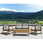 Amazonia Syracuse Eucalyptus 4 piece Deep Seating Set at Sears.com