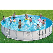 Pro-Series 26 ft. x 52 in. Frame Pool Set at Kmart.com