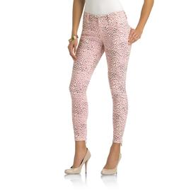 Kardashian Kollection Women's Colored Denim Pants - Leopard Print at Sears.com