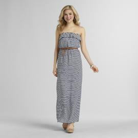 Trixxi Junior's Belted Ruffle Top Maxi Dress - Striped at Sears.com