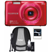 Fujifilm FinePix JX680 16MP Red Digital Camera, Starter Kit and 8GB SDHC Memory Card at Kmart.com
