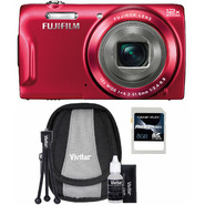 Fujifilm FinePix T550 16MP Red Digital Camera, Starter Kit and 8GB SDHC Memory Card at Sears.com