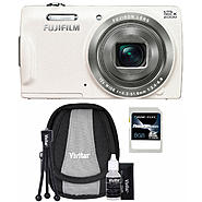 Fujifilm FinePix T550 16MP White Digital Camera, Starter Kit and 8GB SDHC Memory Card at Sears.com